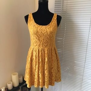 Moulinette Soeurs Lace Overlay Skater Dress